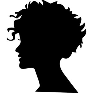 woman-head-silhouette-with-short-hair_318-57019